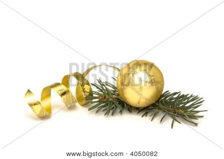 Golden Weihnachtsdekorationen