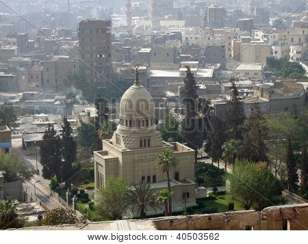Cairo Aerial View In Sunny Ambiance
