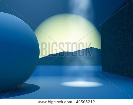 Modern Stage Background Horizon