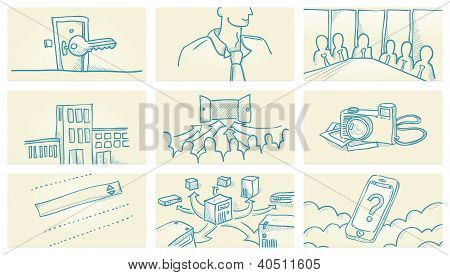 Business Office Illustrations