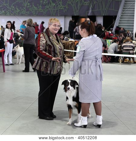 Women And Dog On Dog Show