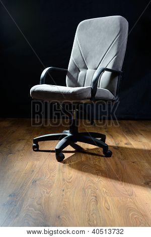 Gray Armchair.