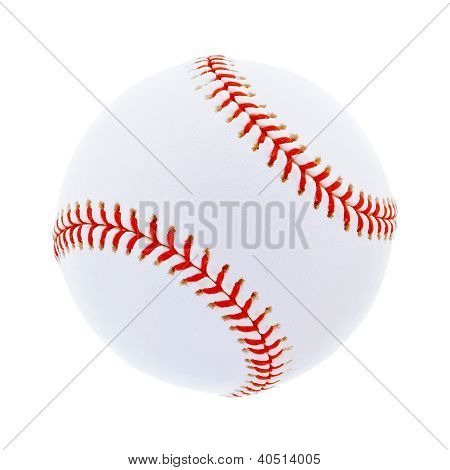 Single baseball, isolated on white