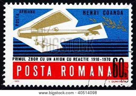 Postage stamp Romania 1970 Henri Coanda's Model Plane
