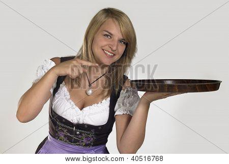 Woman In A Dirndl