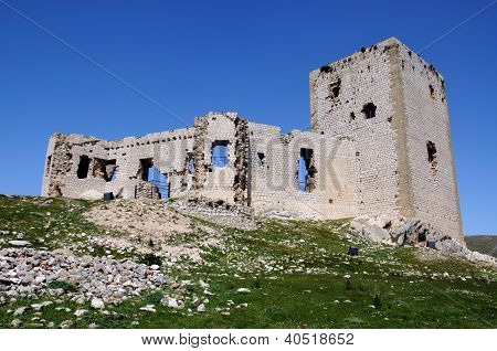Castle ruin, Teba, Andalusia, Spain.