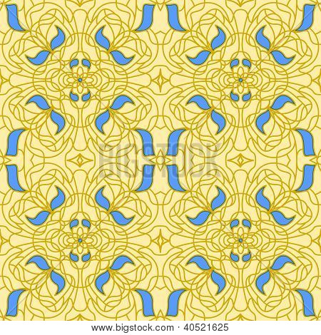 Seamless pattern Art Nouveau
