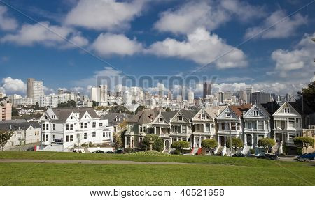 San Francisco, Usa - November 1, 2012: Painted Ladies