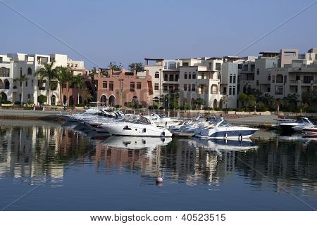 Boats In The Tala Bay. Aqaba, Jordan.