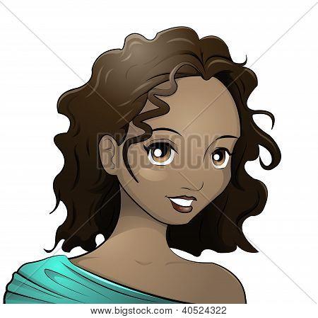 dark skinned girl
