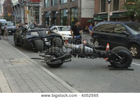Batmobile And Batpod Motorcycle