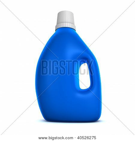 Blue Detergent Bottle