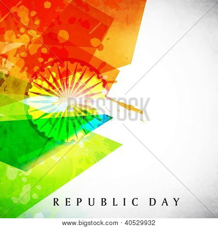 Indian flag color creative grunge background. EPS 10.