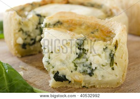Individual Goat's Cheese and Spinach Quiches