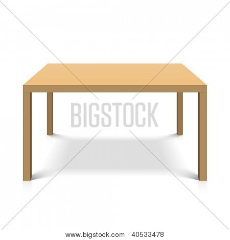 Wooden table. Vector.
