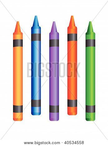 Crayons vector illustraion