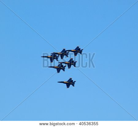 Blue Angel Jets Fly In Formation