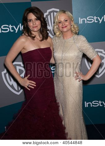 LOS ANGELES - JAN 15:  Tina Fey & Amy Poehler arriving to Golden Globes 2012 After Party: WB / In Style  on January 15, 2012 in Beverly Hills, CA