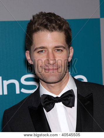 LOS ANGELES - JAN 15: MATTHEW MORRISON arriving to Golden Globes 2012 After Party: WB / In Style on January 15, 2012 in Beverly Hills, CA