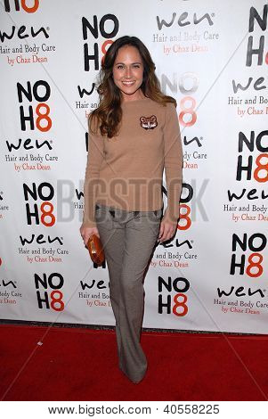 LOS ANGELES - DEC 12:  Nikki Deloach arrives to the NOH8 4th Anniversary Party at Avalon on December 12, 2012 in Los Angeles, CA