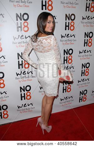 LOS ANGELES - DEC 12:  Katie Cleary arrives to the NOH8 4th Anniversary Party at Avalon on December 12, 2012 in Los Angeles, CA