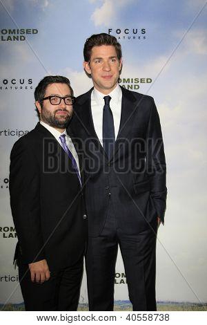 LOS ANGELES - DEC 6:  Mike Sablone, John Krasinski arrive at the 'Promised Land' Premiere at Directors Guild of America on December 6, 2012 in Los Angeles, CA