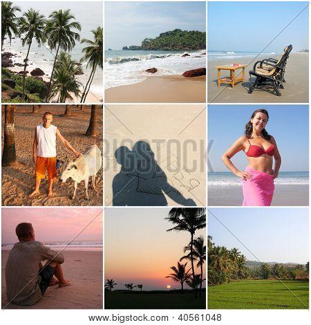 Incredible India Goa  - Collage With Nine Photos