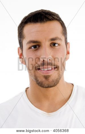 Hispanic Male Looking At Camera