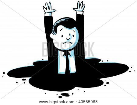 Sinking Businessman