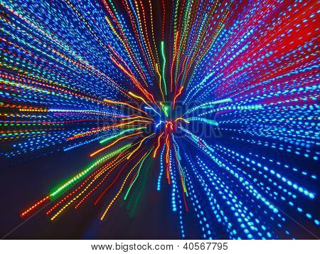 Abstract background of colorful converging beams