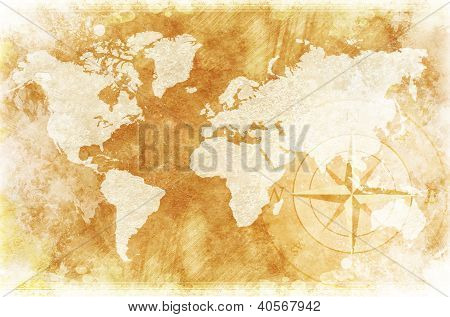Rustic World Map