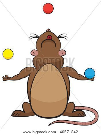 Cute Juggling Rodent