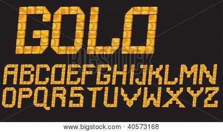 Gold Mosaic Font
