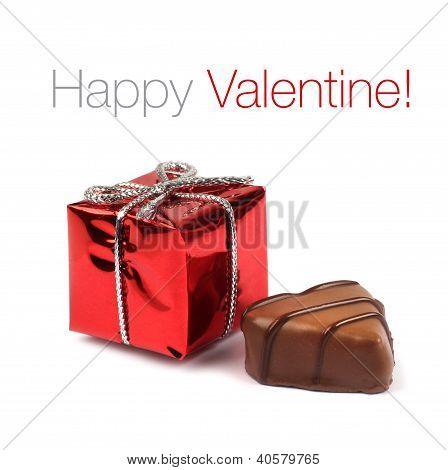 Red Valentine Present Box