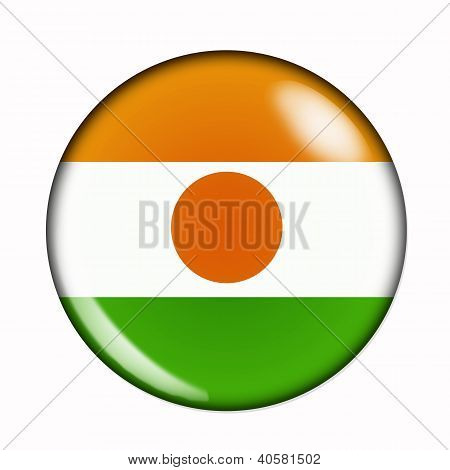 Button Flag Of Niger