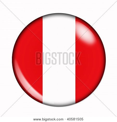 Button Flag Of Peru