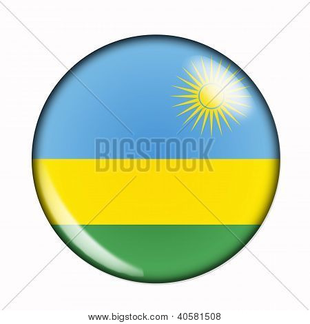 Button Flag Of Rwanda
