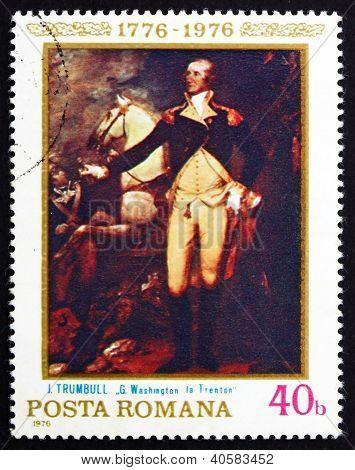 Postage stamp Romania 1976 Washington at Trenton
