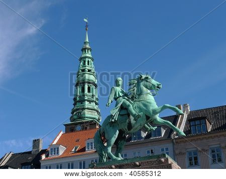 statue and tower