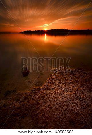 Benbrook Lake Winter Sunset