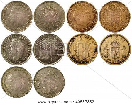 Different Rare Coins Of Spain