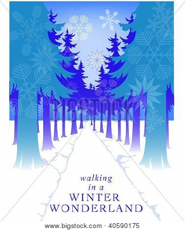 Snowflake Path Card