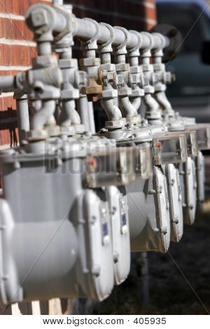 Row Of Utility Meters 2