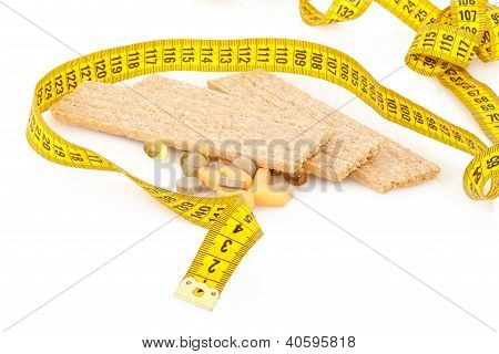 Centimeter, crispbread and tablets