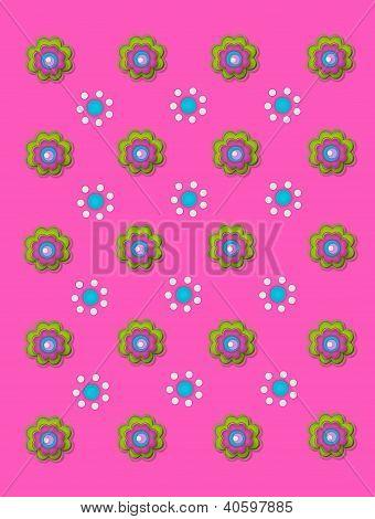 Duo de la flor en rosa