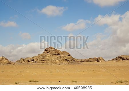 Desert And Mountains Of Jordan