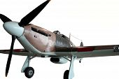 foto of spitfire  - A cutout image of a mint condition vintage Spitfire fighter plane - JPG