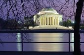Washington DC, Jefferson Memorial at night