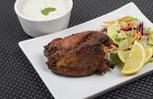 picture of raita  - Tandoori chicken served with salad - JPG