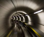 stock photo of zurich  - Going trough the underground tunnel  - JPG